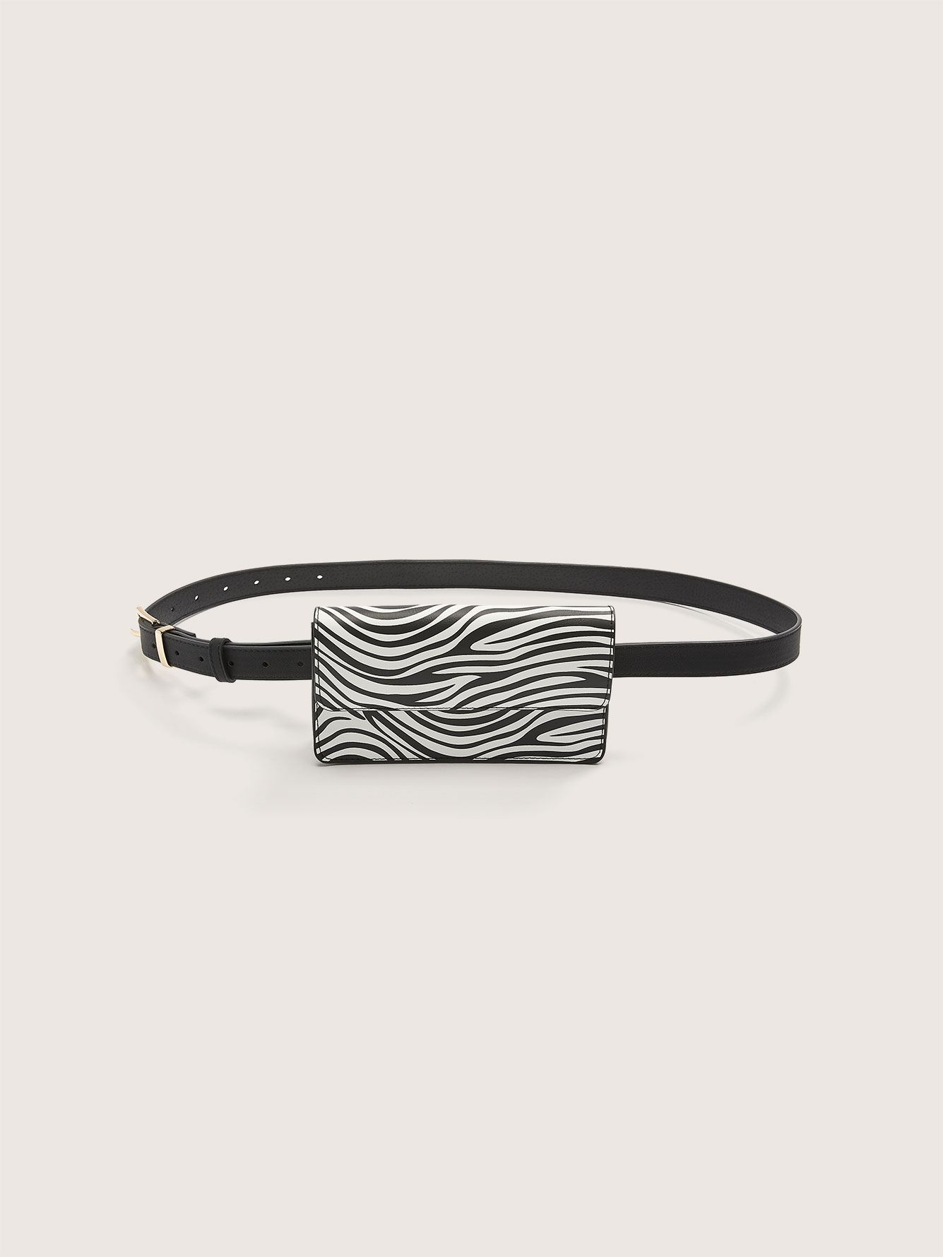 Zebra Print Belt Bag - Addition Elle