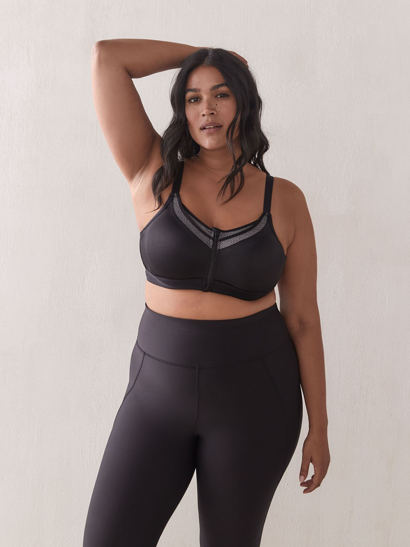 Sports Bra with Front Zip, G & H Cups - ti Voglio