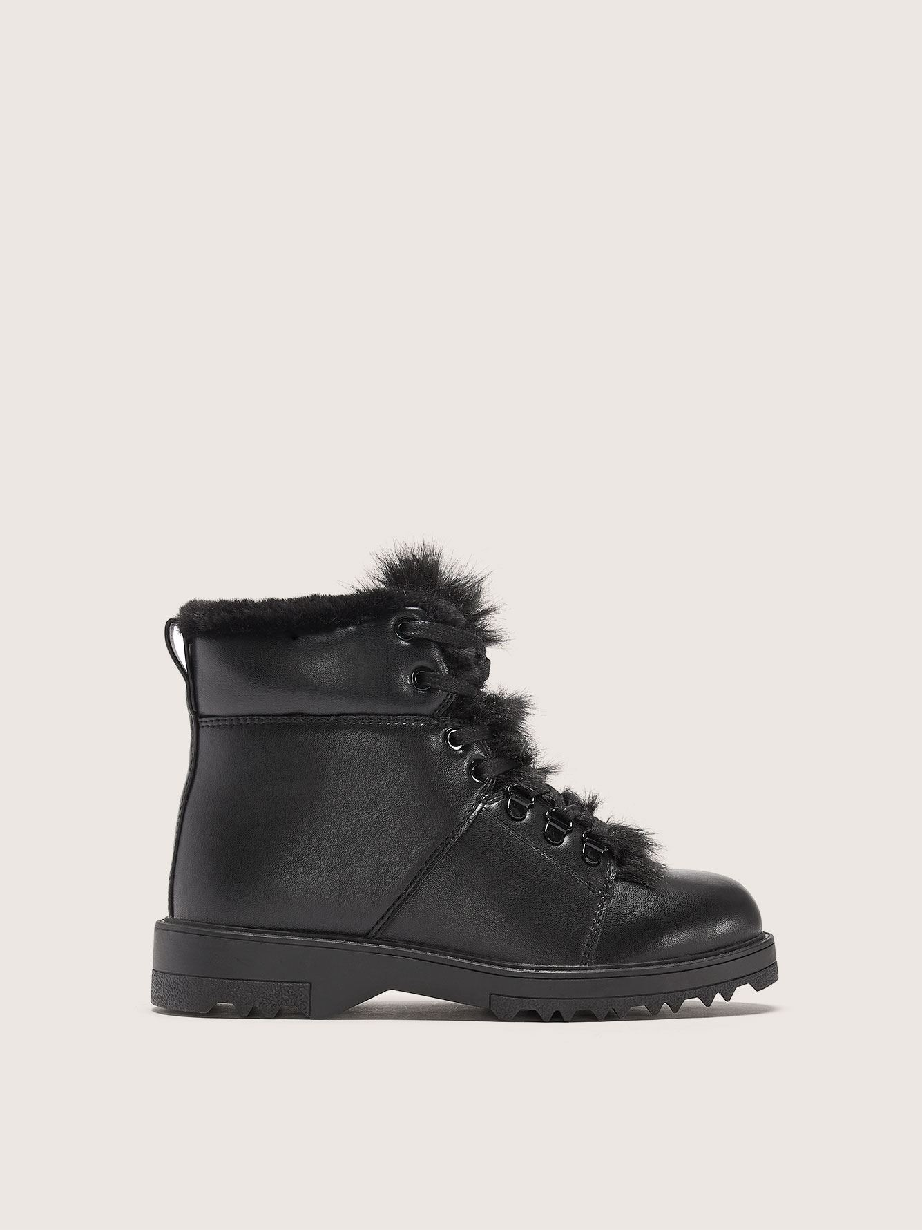 Wide Waterproof Winter Boot with Faux-Fur Trim - Addition Elle